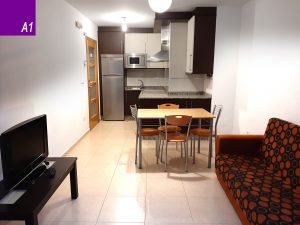 apartamento 4 personas silleda cocina salon a1
