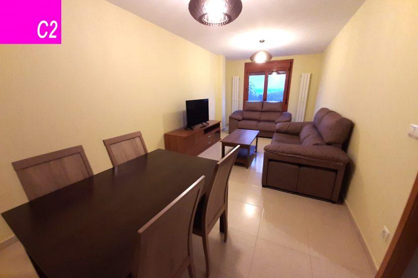 apartamento 4 personas silleda salon comedor c2